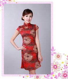 EE/_ KIDS GIRLS CHINESE CHEONGSAM FLORAL PEACOCK LAPEL SLEEVELESS SUMMER DRESS ST