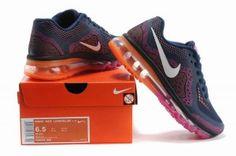 wholesale dealer 73786 d19a5 Nike 9on7 Air Max 2014 Damen Air Cushion Schuhe DunkelBlau Pink Orange Nike  Shoes