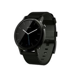 Motorola Moto 360 2a Generazione Smartwatch, 42 mm, 4 GB, 512 MB RAM, Cinturino in Pelle, Nero