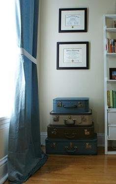 Our framed diplomas with class ring photograph between