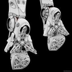 Artemis – Cybernetic Organism – Robotic Art by Sengjoon Song - zbrushtuts Robot Concept Art, Armor Concept, Motion Design, Armas Ninja, Arte Robot, Robot Art, Futuristic Armour, Sci Fi Armor, Robot Design