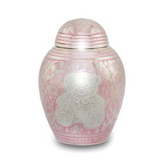 Teddy Bear Infant Cremation Urn for Ashes - Pink