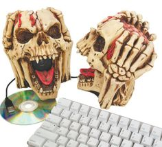Head Splitting Skull Computer Speakers