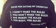 This Father's 'Rules For Dating My Daughter' T-Shirt Is Pitch-Perfect