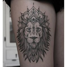 lion mandala ink on Instagram