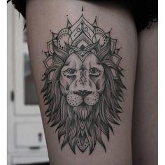 lion mandala ink on Instagram