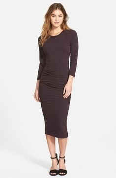 James Perse Gathered Raglan Midi Dress (Nordstrom Exclusive) available at #Nordstrom