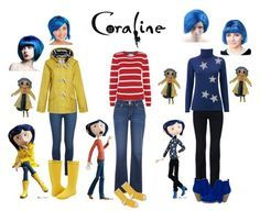 """""""Easy Coraline costume"""" by anais-mcdonald on Polyvore featuring Paige Denim, Kamik, Tulchan, Levi's, Hansel from Basel, Seasalt, STELLA McCARTNEY and Uniqlo"""