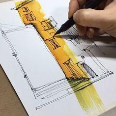 watercolor art, sketchbook by  @xtina_gavrilova_art