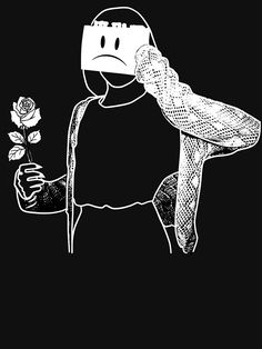 sad girl with rose depression Essential T-Shirt by DAHOX