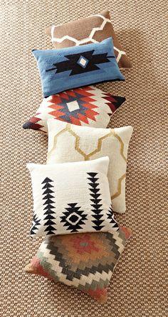 Love these pillow prints. HomeDecorators.com