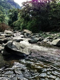 Pance river, at Cali, Colombia