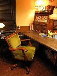 Work Desk, My Room, Interior Design Living Room, Chair, Motel, House, Furniture, Interiors, Home Decor