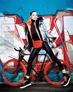 Die Neue Dynamik: Maud Welzen By Pasquale Abbattista For Elle Germany August 2014 - Diesel Black & Gold
