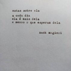 """""""Perten Ser  #zackmagiezi  #notassobreela"""""""