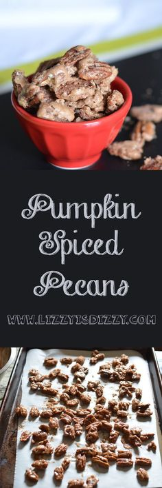 These Pumpkin Spiced Pecans are like crack!