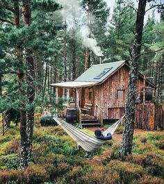 Tiny House Cabin, Cabin Homes, Log Homes, Tiny Houses, Silo House, Forest Cabin, Forest House, Log Cabin Designs, Cabin In The Woods
