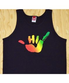 4df0e9b2 Men's Hawaii Domestic Market Basic Tank - HDM Shaka; Color Options:  Black/Teal and Black/Rasta. $25.00 Available online at www.islandsnow.com  and at the ...