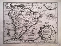 MERCATOR-HONDIUS America Meridionalis, Amsterdam, 1607