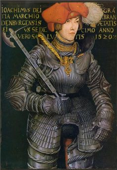 Lucas Cranach the Elder - Renaissance - Portrait of Joachim II, 1520 Renaissance Kunst, Renaissance Portraits, Renaissance Paintings, Renaissance Fashion, Renaissance Artists, European History, Art History, Costume Chevalier, Hans Baldung Grien