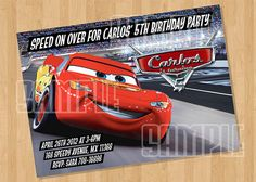 Disney Cars Birthday Party Invitation by cutiesparties.com $5.00