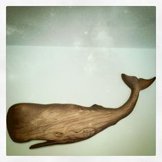 Whale Decor, Got Wood, Wooden Animals, Nautical Art, Wooden Art, Fish Art, Wall Art Designs, Wood Carving, Beach Cottages