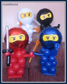 rosielloons Karate Birthday, Ninja Birthday Parties, Birthday Party Themes, Boy Birthday, Lego Ninjago, Ninjago Party, Lego Balloons, Birthday Balloons, Lego Decorations