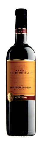 """Teroldego Rotaliano DOC Castel Firmian 2012 Our Price : 8.00 € (VAT included)  Exclusive estate production of the vineyards in the Piana Rotaliana, located at the meeting point of Noce stream and the Adige River.This varietal is defined as """"the royal wine of Trentino"""", thanks to its organic qualities. - Excellent compliment to the Trentino dishes. It pairs well with rich first course dishes like lasagna, and second course dishes such as roasted and grilled meats or seasonal cheeses."""