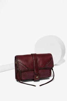 She + Lo Silver Lining Crossbody Bag - Burgundy - Bags + Backpacks