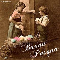 Cartolina di Pasqua retrò
