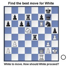 White to move. How should White proceed? See on www.chess-and-strategy.com #chess #echecs