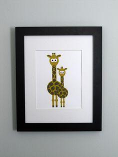giraffe print, the big boy loves this animal