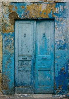 blue doors, so rustic!! This door would be where I go during sad times. It is blue but so cheery, like finding the positive through pain.