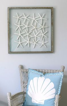 {Coastal Decor} ~ Star Fish Display ~ but with sand dollars becuz this is Washington lol - A Interior Design Coastal Style, Coastal Decor, Coastal Cottage, Coastal Living, Arte Coral, Summer Decoration, Beach House Decor, Home Decor, Dream Beach Houses