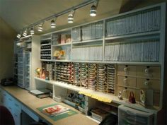 Hello Scrapbooking room heaven! Love how all the stampin up stamps are organized