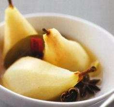 Pears Desserts Recipe: Indulge yourself in the sweetness of this pears dessert recipe, mixed with the aromas of whole spices and lemon grass blended together. Pear Dessert Recipes, My Recipes, Cookie Recipes, Healthy Recipes, Desserts, Lemongrass Recipes, Pears, Lemon Grass, Spices