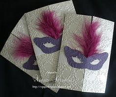 Quinceanera invites or thank you cards if you have a masquerade theme for your Quince Party