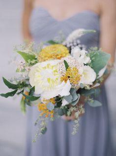 Beautiful bridesmaid bouquet: http://www.stylemepretty.com/2015/03/11/modern-outdoor-museum-wedding/ | Photography: Sarah Kate - http://sarahkatephoto.com/