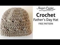 Father's Day Hat Free Crochet Pattern - Right Handed - YouTube
