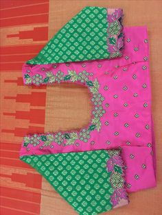 Wedding Saree Blouse Designs, Blouse Designs Silk, Designer Blouse Patterns, Dress Neck Designs, Simple Embroidery Designs, Embroidery Stitches Tutorial, Pink Saree Blouse, Bridal Sarees South Indian, Maggam Works