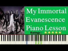 Learn My Immortal On Piano - Easy My Immortal Piano Tutorial - Evanescence Song Easy Piano Songs, My Immortal, Piano Tutorial, Evanescence, Piano Lessons, Learning, Musica, Piano Classes, Studying