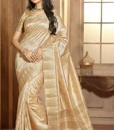 Buy White woven cotton_silk saree with blouse banarasi-silk-saree online