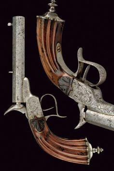 A Flobert type pistol: provenance: Belgium dating: mid-19th Century