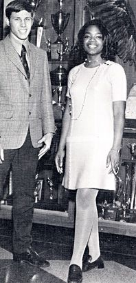 Oprah Winfrey, Senior Year of High School (1971) While still at East Nashville High School, Oprah served as vice president of student government. In 1970, she received a four-year scholarship when she won an Elks Club speaking competition. Oprah went on to attend Tennessee State University. - Codeblack Icons