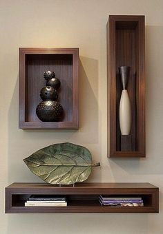 Functional & Stylish Wall Shelves Ideas That You Can Make By Yourself To Decorate Your Interior - Holzwand - Shelves in Bedroom Wall Shelves Design, Wall Design, House Design, Niche Design, Wood Wall Shelf, Corner Shelves, Regal Design, Diy Wand, Room Paint Colors