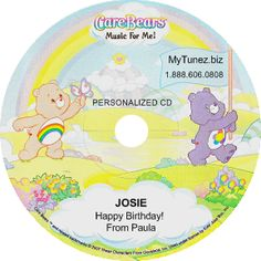 Personalized Care Bears  CD