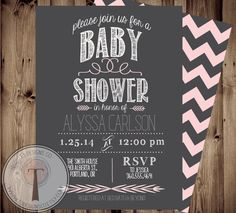 BABY GIRL Baby Shower Invitation. But in lavender..-cosmolab