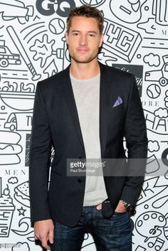 Justin Hartley attends the Saks downtown men's opening at Saks Downtown Men's on February 2017 in New York City. Justin Hartley, Bella Thorne, Justin Scott, Mens Fashion Suits, Male Fashion, Abercrombie Men, Red Wing Boots, Evolution Of Fashion, Beard Styles For Men
