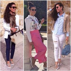 3 looks 1 moccasin. Rebeca Alonso is always chic!