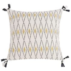 Kissenbezug aus ecrufarbener Baumwolle mit Motiven 40x40 | Maisons du Monde